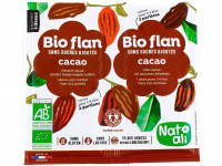 NAT-ALI Gélifiant Bio-flan au cacao 2x11g
