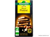 BONNETERRE Chocolat noir fourré praliné 100g