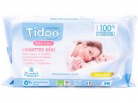 TIDOO Lingettes bébé Calendula 58 unités