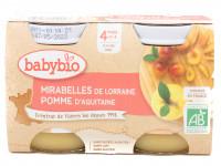 Pots mirabelles pomme 2x130g Bio