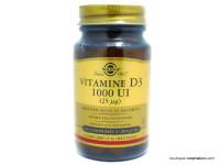 SOLGAR Vitamine D3 1000UI boite de 100 comprimés