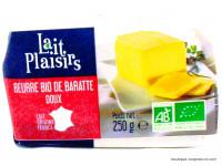 LAIT PLAISIRS Beurre de baratte doux 250g