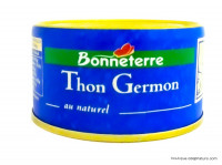 BONNETERRE Thon germon au naturel 139g