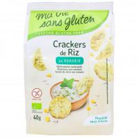 Crackers de Riz au Romarin Sans Gluten Bio 40g