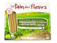 LE PAIN DES FLEURS Tartines craquantes lentilles vertes 150g