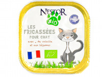 NESTOR BIO Les fricassées pour chat volaille légumes 100g