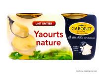 GABORIT Yaourts nature au lait entier 4x125g