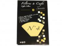 DESTINATION Filtres à café N°4 par 40