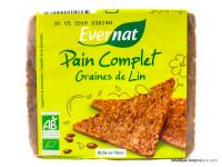 EVERNAT Pain complet aux graines de lin 500g