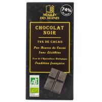 MOULIN DES MOINES Chocolat noir 74% par 100g