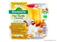 BONNETERRE Flans vanille & caramel 4x100g