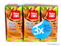 LIMA Boisson riz chocolat calcium 3x20cl