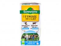 BONNETERRE Lait de vache stérilisé U.H.T. 1/2 écrémé 1L