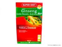 SUPERDIET Ginseng gelée royale acérola 20 ampoules