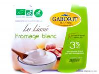 GABORIT Le lissé fromage blanc 3% x4, 400g