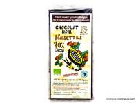 CLOS DE L'ARCHE Chocolat noir 70% aux noisettes 90g