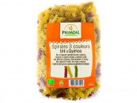 PRIMEAL Spirales 3 couleurs blé quinoa 500g