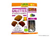 GAIA Galettes de céréales germées aux raisins 2x100g