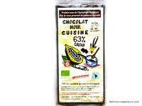 CLOS DE L'ARCHE Chocolat noir 63% pour la cuisine 2x90g