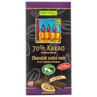 RAPUNZEL Chocolat extra noir 70% 80g